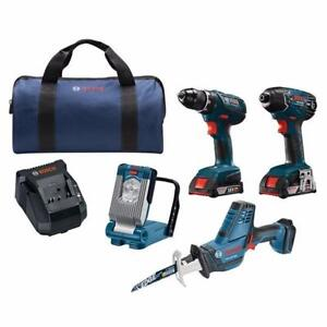Bosch (CLPK496A-181) 18V Lithium-Ion 4-Tool Cordless Combo Kit (BRAND NEW) $379.99