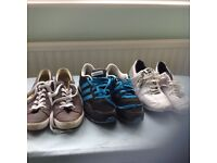 3 pairs of top brand trainers size 7
