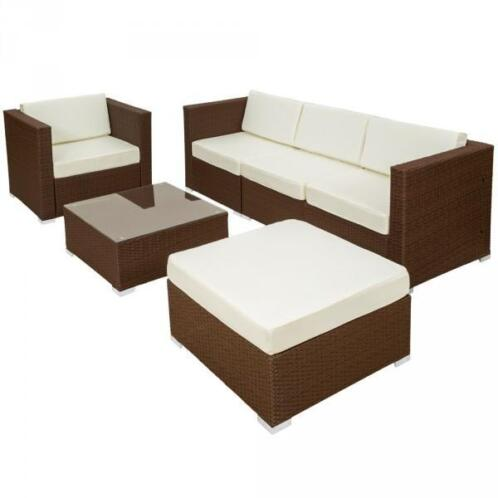 Lounge Set Poly Rotan Tuinset Tuinmeubel loungeset 401176