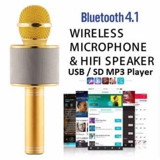 Karaoke Handheld Microphone USB KTV Bluetooth MIC speaker record