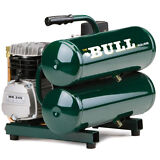 Rolair ( The Bull ) 2-HP 4.3-Gallon Contractor Twin Stack Air Compressor