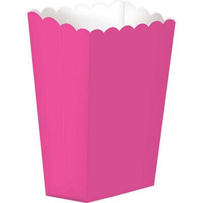 Süßigkeiten Buffet Helles Rosa Klein Popcorn Boxen X 5 (Kleine Popcorn-boxen)