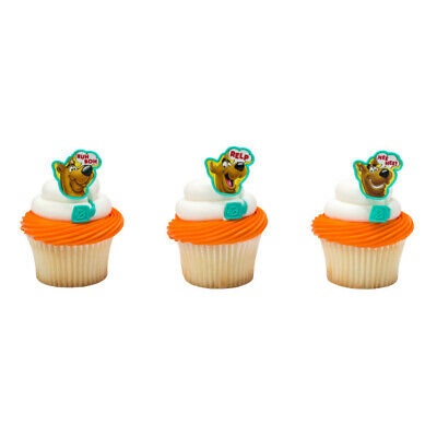 Cake Toppers New Scooby Doo Cupcake Rings One Dozen Ruh - Scooby Doo Cupcake Toppers
