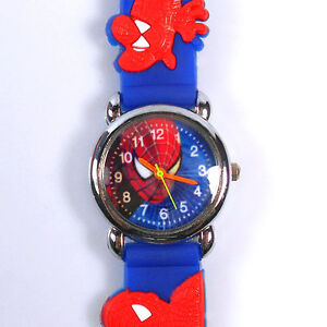 Spider-Man-Marvel-Child-Boy-Quartz-Wrist-Watch-Xmas-SB