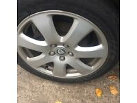 JAGUAR X TYPE SET OF ALLOY WHEELS
