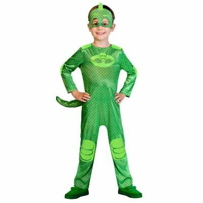 Gecko PJ Masks Costume Boys Pyjama  Superhero Fancy Dress Outift Childs License](Gecko Costume)