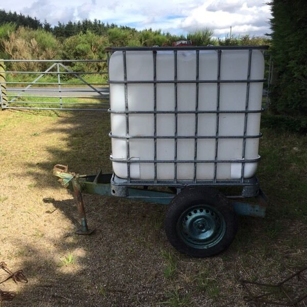 Ibc Water Container Mounted On Trailer In Ellon