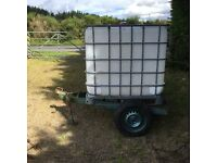 IBC Water Container mounted on Trailer