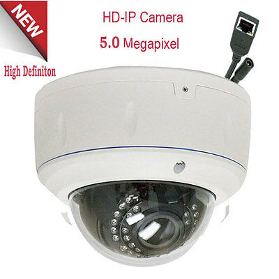 5mp 2592p Dome PoE IP Security Camera 2.8-12mm Lens #9 30IR WDR 3D TB