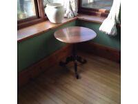 Small Mahogany circular table