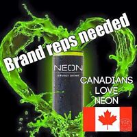 NEON ENERGY DRINK REPS WANTED