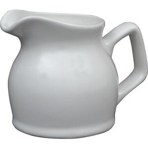ROYAL GENWARE WHITE CREAM/MILK JUG x 6