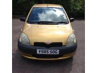 Cheap little Toyota Yaris 1.0L Car For Sale Mot-07-2017 Bargain Price Only £549 ONO