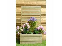 Modern Wooden Urban Screen Planter by Grange Fencing, brand new
