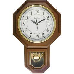 Essex 18.75 Modern Pendulum Wall Clock (Faux Wood)