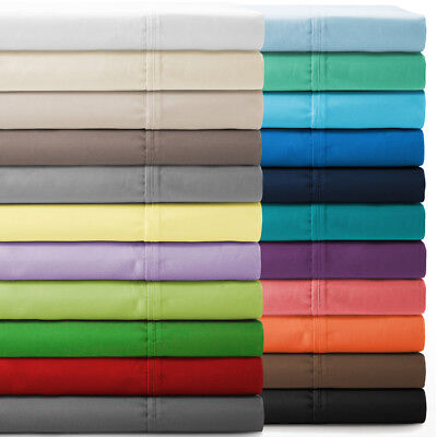 - Attached Waterbed Sheet Set Solid All Color & Sizes 800 TC 100% Egyptian Cotton