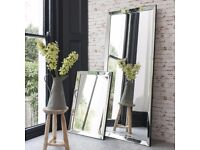 New & boxed Modern 6 ft Luna Leaner Mirror back in stock Only £129 get yours today