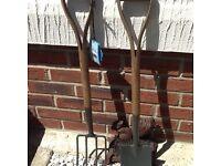 Children's spade n fork