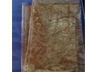 Organza bronze fabric