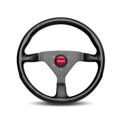 MOMO Steering Wheel MONTE CARLO Black Leather Red Stitching 350mm