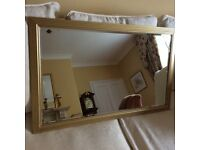 MIRROR AND PICTURE BOTH GOLD FRAMED EXCELLENT CONDITION