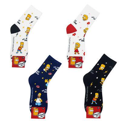 The Simpsons 4 Pairs Lovely Cartoon Socks Women Big Kids Girl MADE IN KOREA