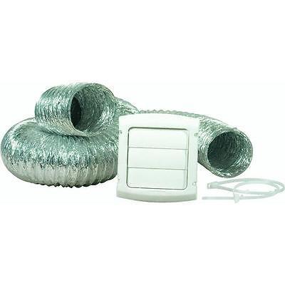 "12 Pk 4"" Aluminum Gas/Electric Clothes Dryer Exhaust Duct Vent 4Pc Kit TD48PVKZW"