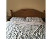 Solid Matt pine wooden bed