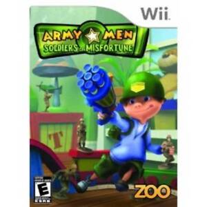 BRAND NEW ARMY MEN -Wii GAME - SOLDIERS OF.MISFORTUNE
