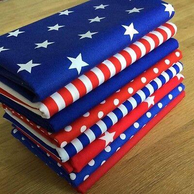 Blenders fabric JUMBO ROYAL BLUE and RED Spots Stripes Stars Fat Quarter Bundle