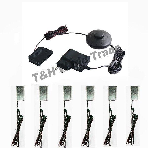 LED Glaskantenbeleuchtung Vitrinenbeleuchtung Glasbodenbeleuchtung Sets 5cm Clip