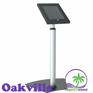 PYLE PSPADLK55 Trade show Tamper-Proof Anti-Theft Security Floor Stand Holder Adjustable Height for iPads 2 /3 /4