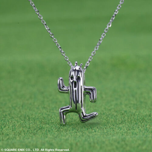 SQUARE ENIX FINAL FANTASY Silver Necklace Sabotender Cactuar Japan SHOP Limited