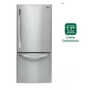 LG LDC22370ST 30 22 cu. Ft. Bottom Freezer Refrigerator (Factory Refurbished)