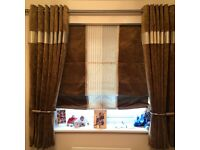 Velvety/coderouy curtains and blind all fully lined