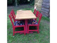 Vintage retro kruisers cars Formica top bench table