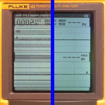 Fluke 43 43b Power Analyzer Lcd Display Line Repair Service