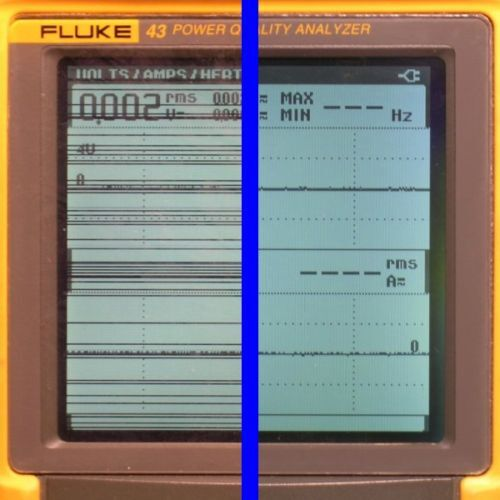 Fluke 43, 43B Power Analyzer LCD Display Line Repair Service
