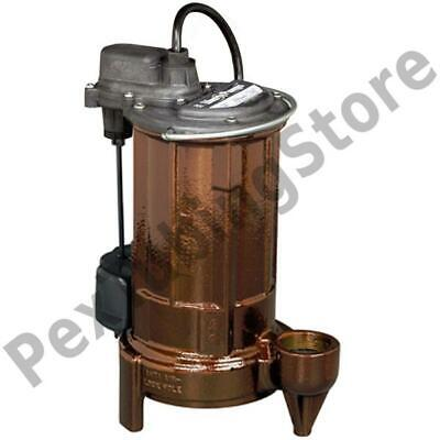 Automatic Sumpeffluent Pump W Vertical Float Switch 10 Cord 34 Hp 115v