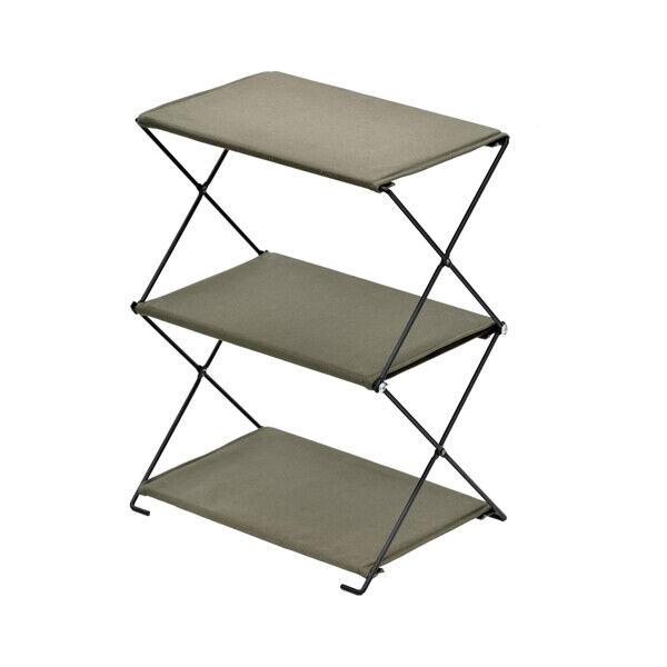 Bundock Camping Foldable Shelf Rack BD-196 Khaki