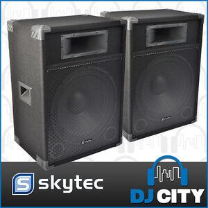 Skytec 15 Inch Active PA DJ Speaker PAIR Pack 1600 Watt MAX