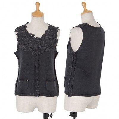 io comme io Knit Vest Size 38(K-45029)