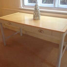 Large shabby chic desk console table