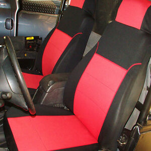 Jeep Sahara Seat Covers >> Jeep-Wrangler-2003-06-Neoprene-Sahara-FRONT-Custom-Car-Seat-Cover-Red-FS20front