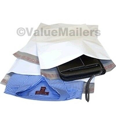 50 12x16 White Poly Mailers Envelopes Bags 12 X 16