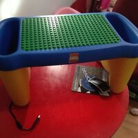 Lego table and larger Lego
