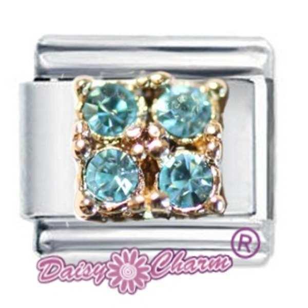 Paw Print October Birthstone Italian Charm Fits Nomination Classic Daisy Charm JSC Jewellery Daisy Charm