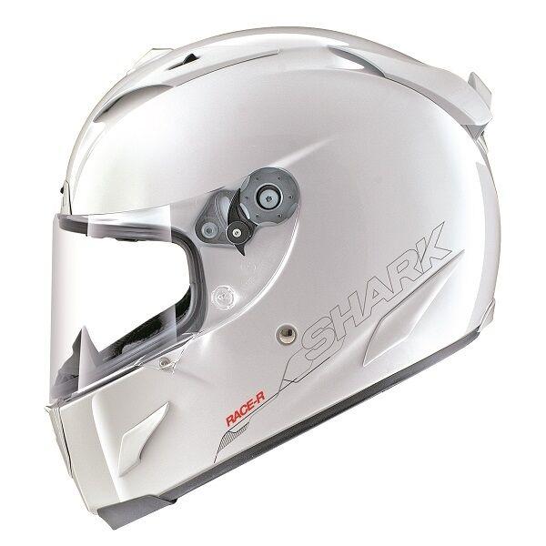 SHARK RACE-R PRO GLOSS WHITE Carbon Aramid Motorbike Light Helmet