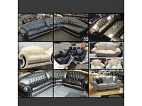 VERSACE SOFA LEATHER SETS / PENDRAGON LEATHER SOFAS