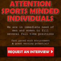 ATTENTION SPORTS MINDED INDIVIDUALS